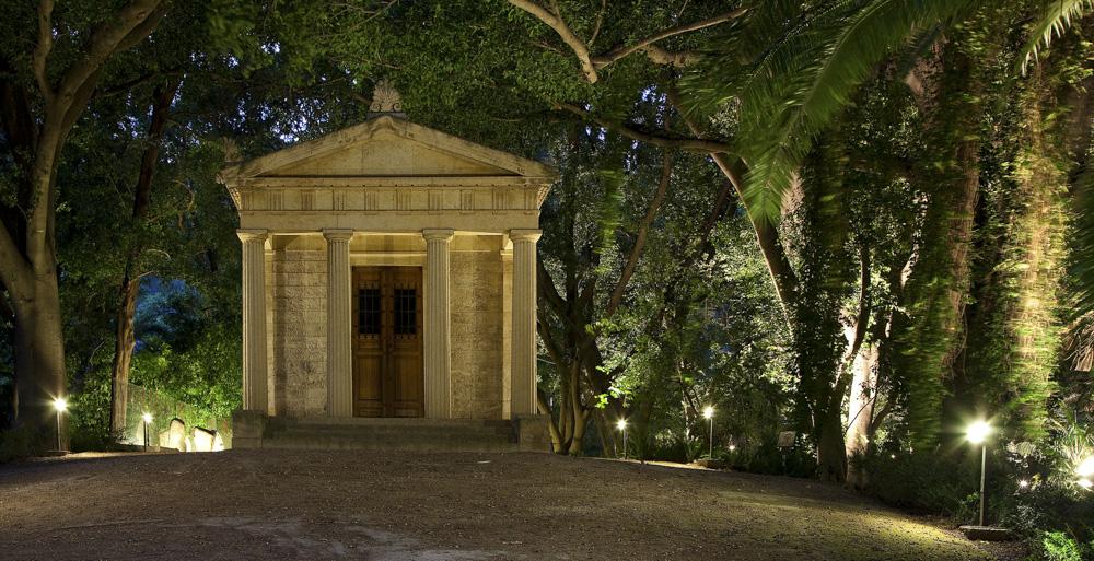 Iluminación artística de los Jardines de la Concepción en Málaga.