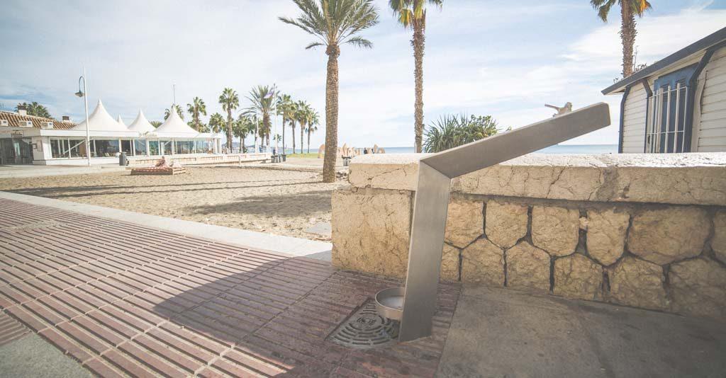 fuentes y pilares en Málaga