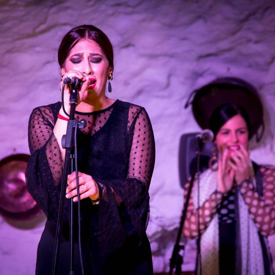 Tablao flamenco en Granada. Cantaora con arte en Granada