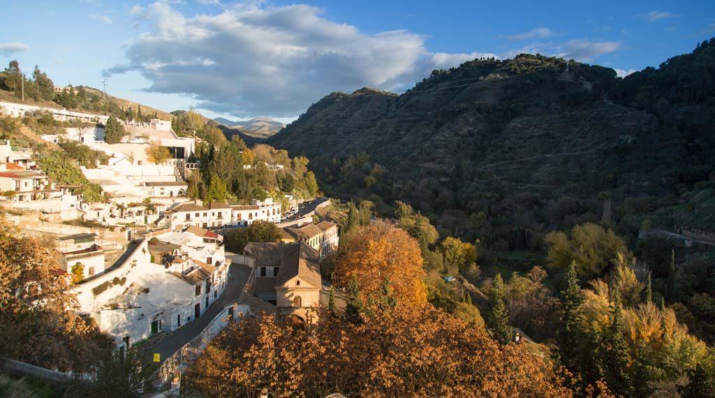 Sacromonte de Granada en otoño