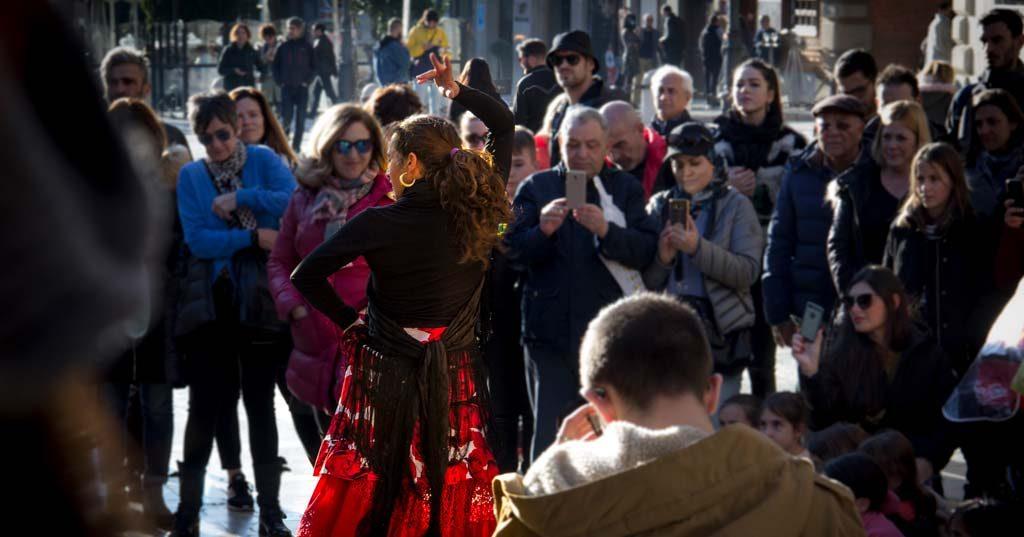 flamenco en las calles de granada