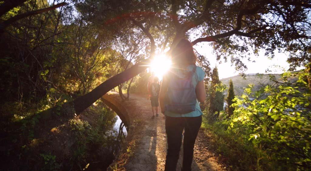Camino de la acequia real de la Alhambra