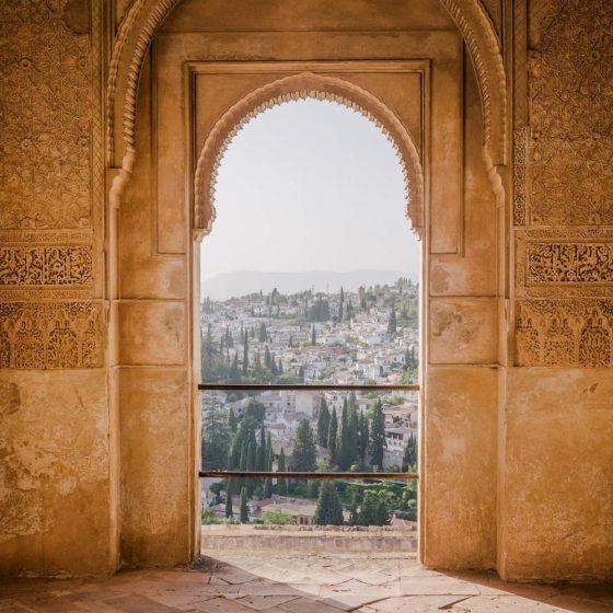 Increibles vistas del Albaicín desde la Alhambra